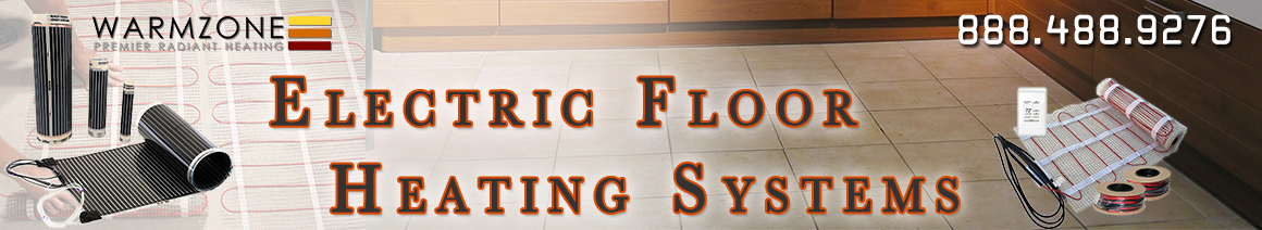 Electric radiant floor heating banner
