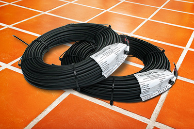 In-Slab floor heating cable.